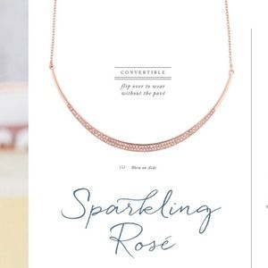 Chloe + Isabel Sparkling Rosé Collar Necklace